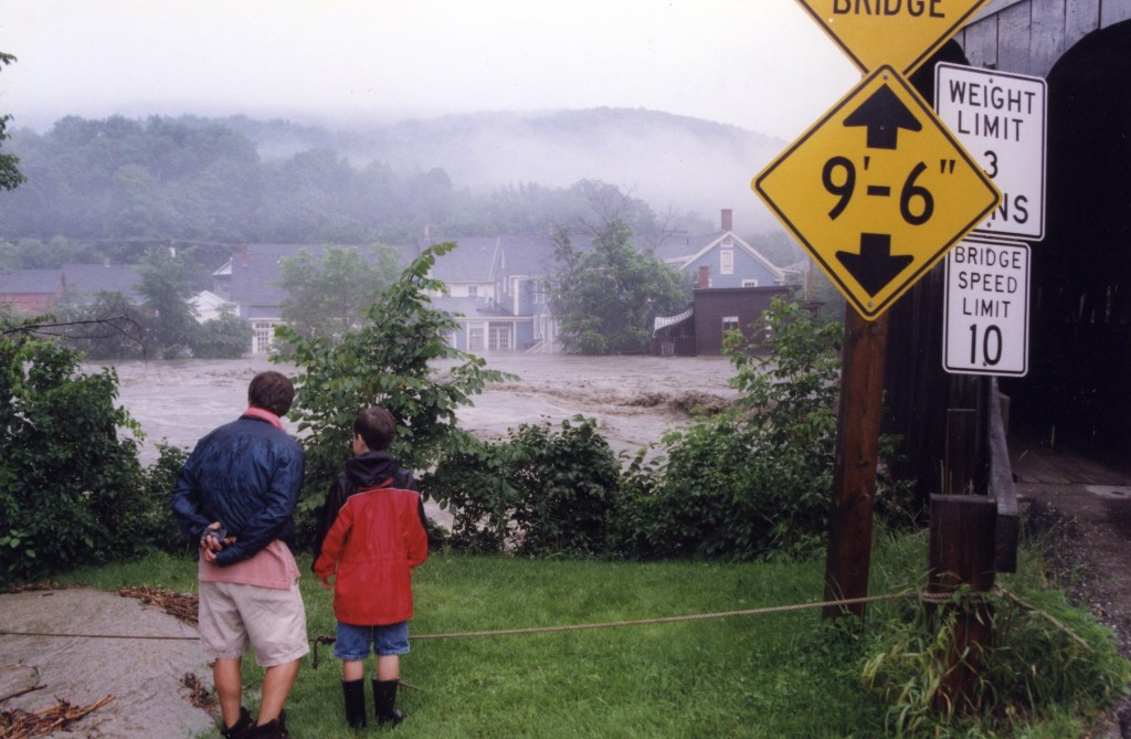 Watching the flood in Waitsfield Village